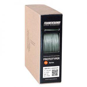 Пластик для 3D принтера Filamentarno! ABS GF-4 алюминий (0,75 кг.) 1,75 мм