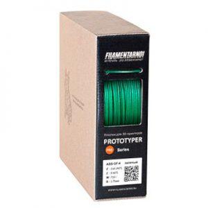 Пластик для 3D принтера Filamentarno! ABS GF-4 зеленый (0,75 кг.) 1,75 мм