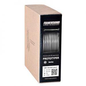 ABS пластик для 3D принтера Filamentarno! ABS Standart серый (0,75 кг.) 1,75 мм