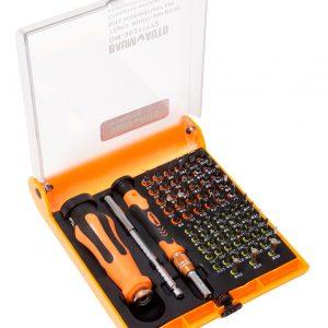 Набор отверток многоцелевых с удлинителем и набором бит для точных работ, 72пр.(T,TH,H,SL,PH,PZ,спец. биты),в футляре