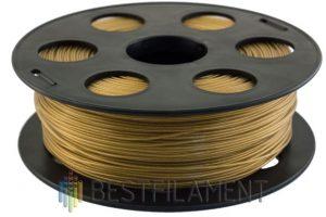 PETG пластик для 3D принтера Bestfilament золотистый металлик 1 кг (1,75 мм)