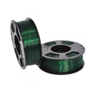 PETG пластик для 3D принтера U3Print GF PETG EMERALD TRANSPARENT (Изумруд светопропускающий) 1кг 1,75 мм
