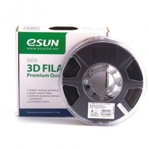 TPE пластик для 3D принтера eSUN eElastic черный (1,75 мм) 1 кг.