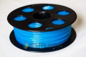 PLA пластик для 3D принтера Bestfilament флуоресцентный голубой 1 кг (1,75 мм)