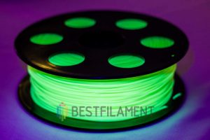 PLA пластик для 3D принтера Bestfilament Флуоресцентный желтый 1 кг (1,75 мм)