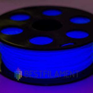 PETG пластик для 3D принтера Bestfilament Флуоресцентный голубой 1 кг (1,75 мм)