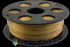 PLA пластик для 3D принтера Bestfilament золотистый металлик 1 кг (1,75 мм)